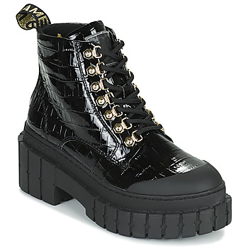 Schuhe Damen Boots No Name KROSS LOW BOOTS Schwarz