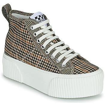 Schuhe Damen Sneaker High No Name IRON MID Braun