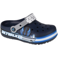Schuhe Kinder Pantoletten / Clogs Crocs Fun Lab Luke Skywalker Lights K Clog Blau
