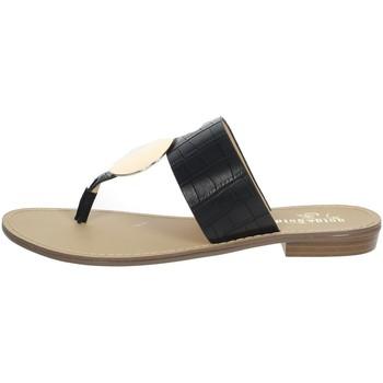 Schuhe Damen Zehensandalen Gold & Gold GL632 Schwarz