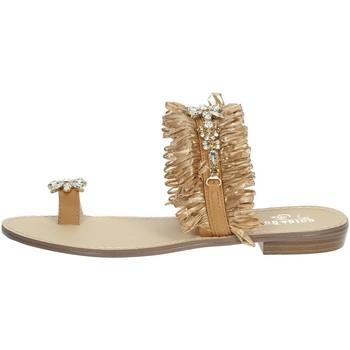 Schuhe Damen Zehensandalen Gold & Gold GL613 Braun Leder