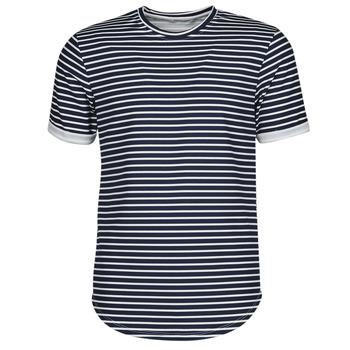 Kleidung Herren T-Shirts Yurban ORICO Marine / Weiss
