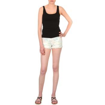 Kleidung Damen Shorts / Bermudas School Rag SELENA FLOWERS Weiss