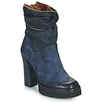 Schuhe Damen Low Boots Airstep / A.S.98 BLOC ZIP Blau