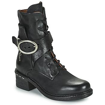 Schuhe Damen Low Boots Airstep / A.S.98 NOVASUPER LACE Schwarz