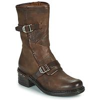 Schuhe Damen Low Boots Airstep / A.S.98 NOVASUPER BUCKLE Braun