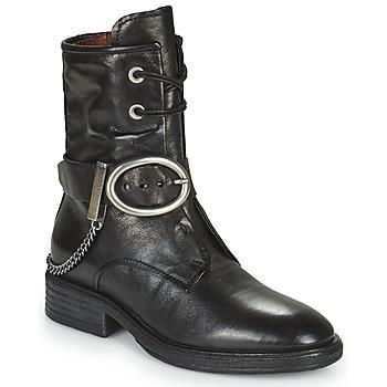 Schuhe Damen Boots Airstep / A.S.98 FLOWER BUCKLE Schwarz