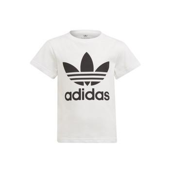 Kleidung Kinder T-Shirts adidas Originals FLORE Weiss
