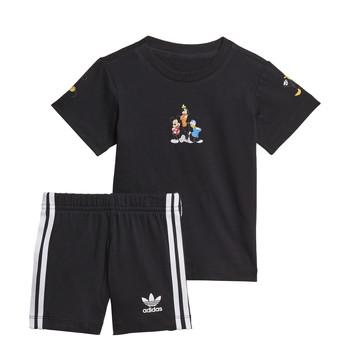 Kleidung Jungen Kleider & Outfits adidas Originals COTES Schwarz