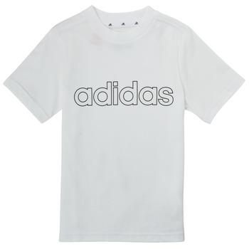 Kleidung Jungen T-Shirts adidas Performance ALBA Weiss