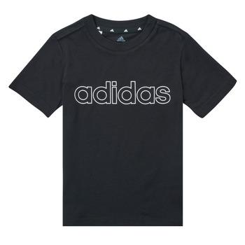Kleidung Jungen T-Shirts adidas Performance SAMINA Schwarz