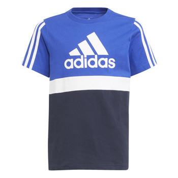 Kleidung Jungen T-Shirts adidas Performance ABATIA Marine / Schwarz
