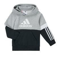 Kleidung Jungen Sweatshirts adidas Performance CRAKA Grau / Schwarz