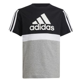 Kleidung Jungen T-Shirts adidas Performance MOULITA Grau / Schwarz