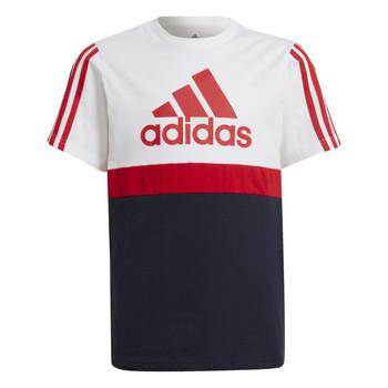 Kleidung Jungen T-Shirts adidas Performance GUILIA Weiss / Marine