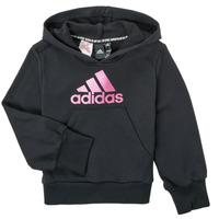 Kleidung Mädchen Sweatshirts adidas Performance KINOM Schwarz