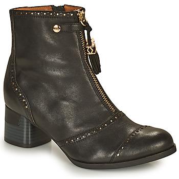 Schuhe Damen Low Boots Mam'Zelle MALO Schwarz