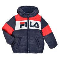 Kleidung Kinder Daunenjacken Fila DERIENA Rot / Marine