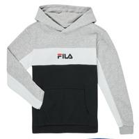Kleidung Jungen Sweatshirts Fila CAMILLA Schwarz / Grau