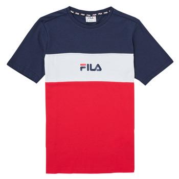 Kleidung Mädchen T-Shirts Fila TEKANI Rot / Marine