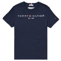 Kleidung Jungen T-Shirts Tommy Hilfiger SELINERA Marine