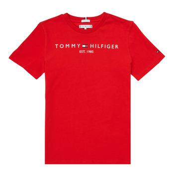 Kleidung Jungen T-Shirts Tommy Hilfiger SELINERA Rot