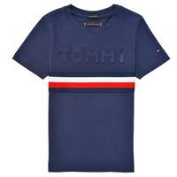 Kleidung Jungen T-Shirts Tommy Hilfiger ELEONORE Marine