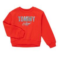 Kleidung Mädchen Sweatshirts Tommy Hilfiger KOMELA Rot