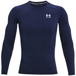 Kleidung Herren Langarmshirts Under Armour Heatgear Armour Long Sleeve Blau