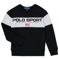 Kleidung Jungen Sweatshirts Polo Ralph Lauren SIMEON Schwarz