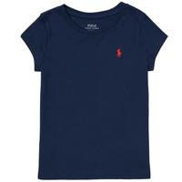 Kleidung Mädchen T-Shirts Polo Ralph Lauren DRETU Marine