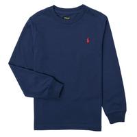 Kleidung Jungen Langarmshirts Polo Ralph Lauren KEMILO Marine
