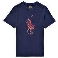 Kleidung Jungen T-Shirts Polo Ralph Lauren GUILIA Marine