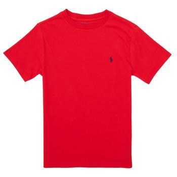Kleidung Mädchen T-Shirts Polo Ralph Lauren FOLLIA Rot