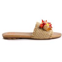 Schuhe Damen Pantoffel Porronet 2704 Beige