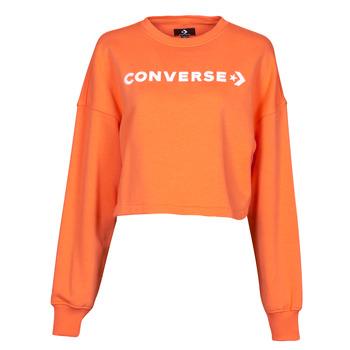 Kleidung Damen Sweatshirts Converse EMBROIDERED WORDMARK CREW Orange