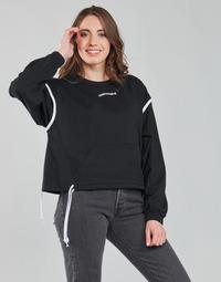Kleidung Damen Sweatshirts Converse LONG SLEEVE JERSEY CREW Schwarz