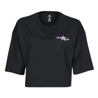 Kleidung Damen T-Shirts Converse CHUCK INSPIRED HYBRID FLOWER OVERSIZED CROPPED TEE Schwarz