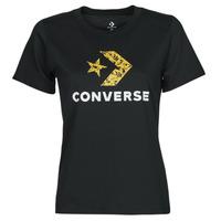 Kleidung Damen T-Shirts Converse STAR CHEVRON HYBRID FLOWER INFILL CLASSIC TEE Schwarz