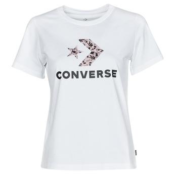 Kleidung Damen T-Shirts Converse STAR CHEVRON HYBRID FLOWER INFILL CLASSIC TEE Weiss