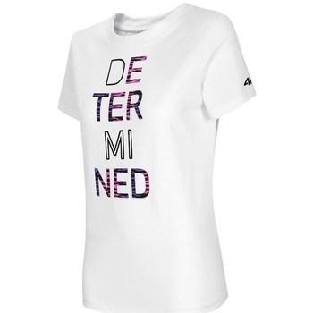Kleidung Damen T-Shirts 4F TSD018 Weiß