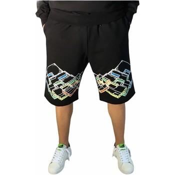 Kleidung Herren Shorts / Bermudas Lotto LTU316 Schwarz