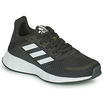 Schuhe Kinder Laufschuhe adidas Performance DURAMO SL K Schwarz / Weiss