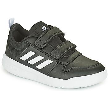 Schuhe Kinder Sneaker Low adidas Performance TENSAUR C Schwarz / Weiss