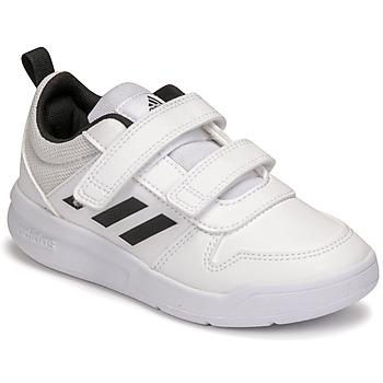 Schuhe Kinder Sneaker Low adidas Performance TENSAUR C Weiss / Schwarz