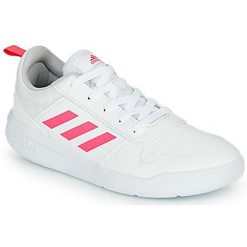 Schuhe Mädchen Sneaker Low adidas Performance TENSAUR K Weiss / Rose