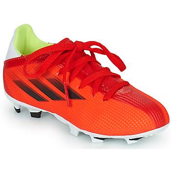 Schuhe Kinder Fußballschuhe adidas Performance X SPEEDFLOW.3 FG J Rot