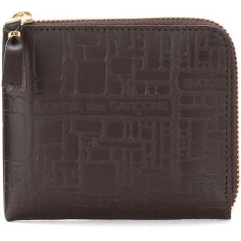 Taschen Portemonnaie Comme Des Garcons Etui in geprägtem Leder Braun Braun
