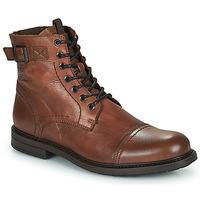 Schuhe Herren Boots Jack & Jones JFW SHELBY LEATHER Cognac