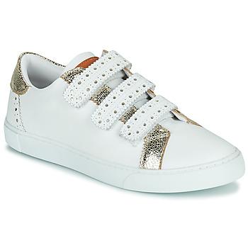 Schuhe Damen Sneaker Low Les Tropéziennes par M Belarbi SUZETTE Weiss / Gold